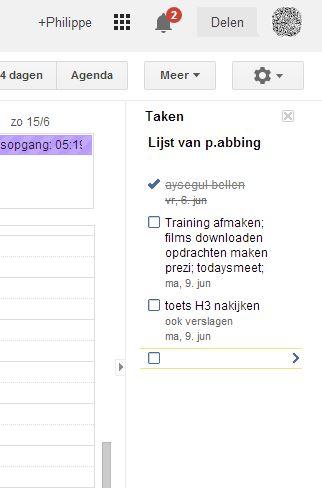 google_agenda_takenlijst